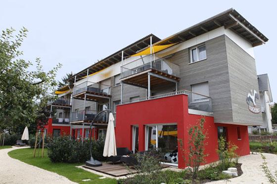 Aussenaufnahme von den Ferienwohnungen Storchennest am Bodensee
